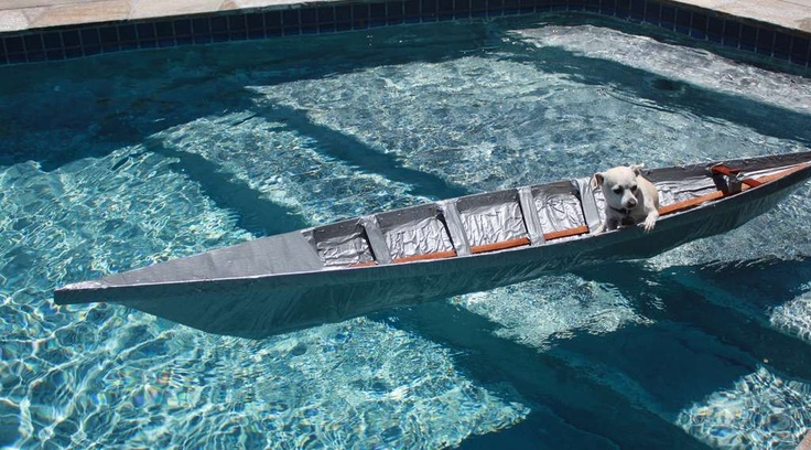 how to make a duct tape boat