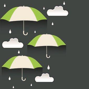 Umbrella discounts design elements 01 vector