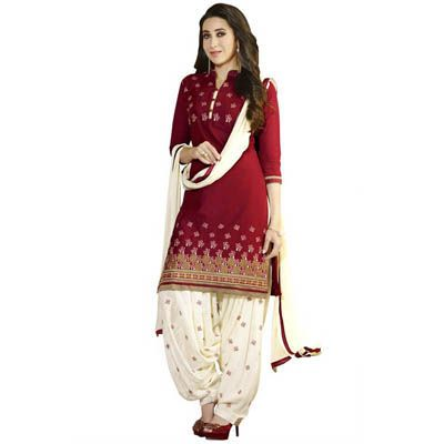 Buy NVD ENTERPRICE Red Cotton Dress Material by NVD ENTERPRICE, on Paytm, Price: Rs.1049?utm_medium=pintrest