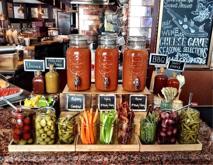 Perfect sunday special BYO Bloody Mary buffet