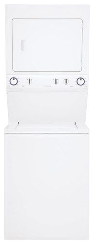 Frigidaire - 3.8 Cu. Ft. 8-Cycle Washer and 5.5 Cu. Ft. 4-Cycle Dryer Gas Laundry Center - Classic White