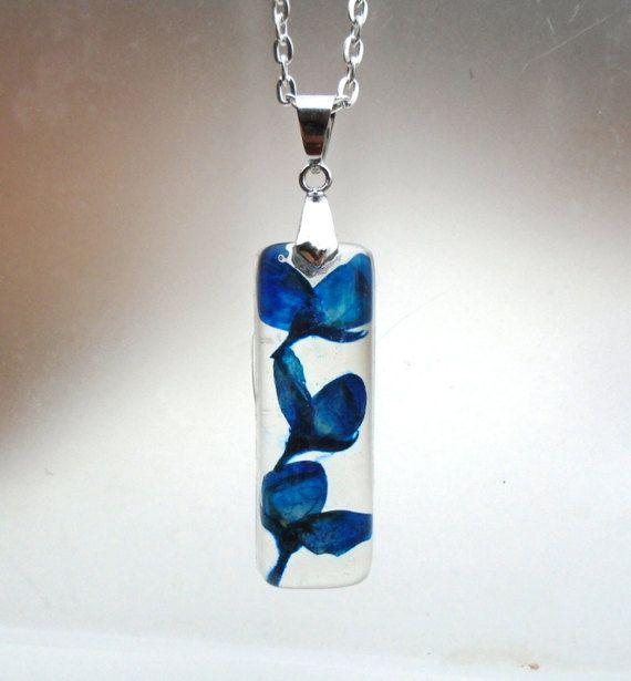 Texas Bluebonnet Real Pressed Flower Jewelry by GardenGemsJewelry