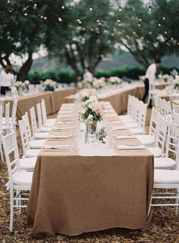 burlap tablecloth rectangle burlap by revelrypartycompany on etsy rh pinterest com burlap style tablecloths burlap wedding tablecloths