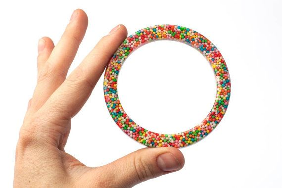 Sprinkles Stacker Bangles set of three Candy by ArcticGlassStudios