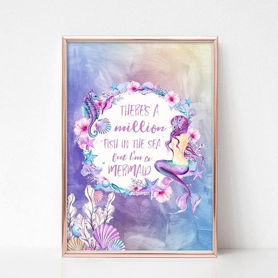 Mermaid Gifts Mermaid Decor Mermaid Art Print Mother S: Best 25+ Mermaid Quotes Ideas On Pinterest