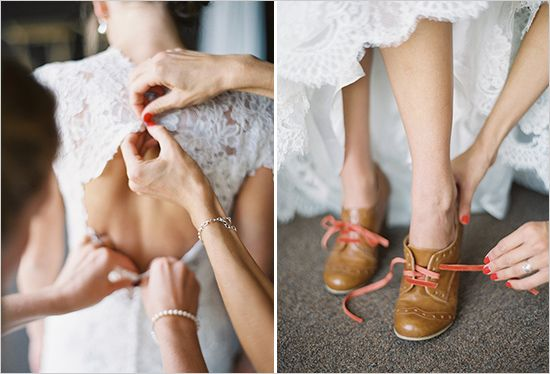 vintage wedding shoes, so cute!  I want camel colored wedding shoes!