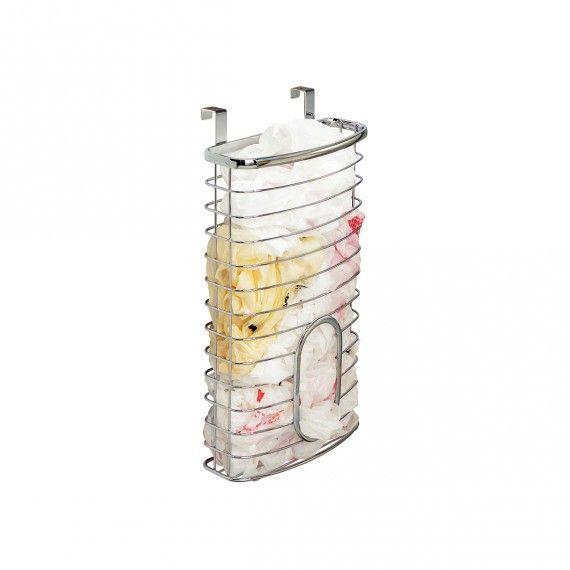 Distributeur de sacs plastique à suspendre en métal chro
