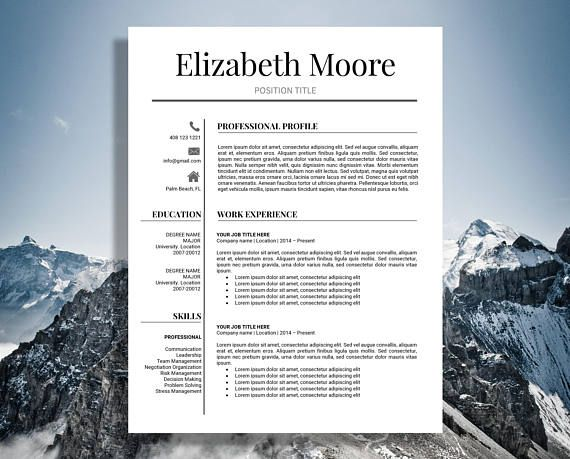 Professional and Modern Resume template for MS WORD and MAC PAGES INSTANT DOWNLOAD After purchasing you will be able to INSTANTLY download and use the template, edit it and fill out with your own information. No need to wait! Microsoft Word and Mac Pages files for your