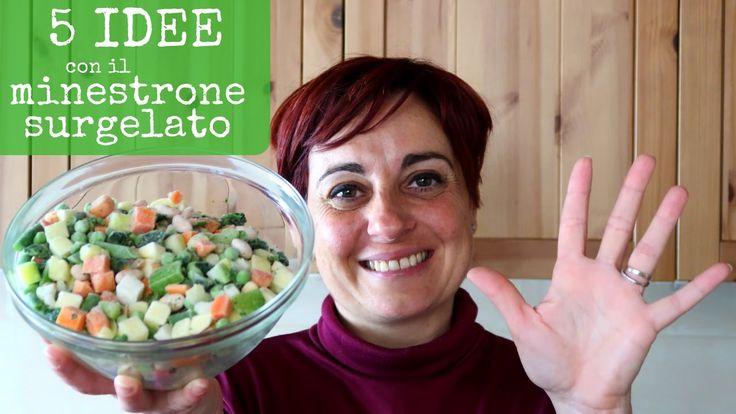 5 modi alternativi per cucinare il minestrone surgelato. Quiche di verdure, frittata, cous cous di verdure, pasta al forno e torta salata.