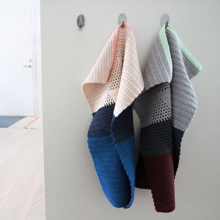 Hæklede Harlekinshåndklæder