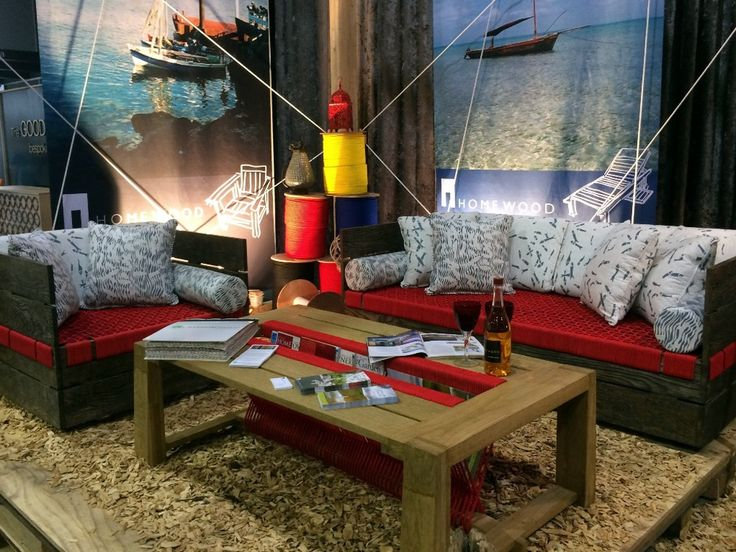 Our Fish Frenzy Fabric used on Homewood's Itambo Suite Image courtesy of HOMEWOOD | Intambo Suite at Decorex Durban 2015  #africanvibrations #homewood #fishfrenzy