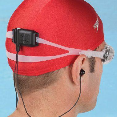 Waterproof MP3 player for swimming... genius.
