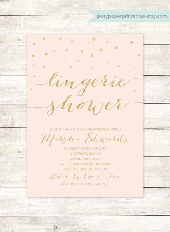 Hey, I found this really awesome Etsy listing at https://www.etsy.com/listing/195392302/pink-gold-lingerie-shower-invitation