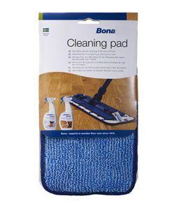 Bona Reinigingspad - parket en laminaat reinigen    Neemt vuil grondig op en lage kosten (wasbaar en dus herbruikbaar). Met microvezels