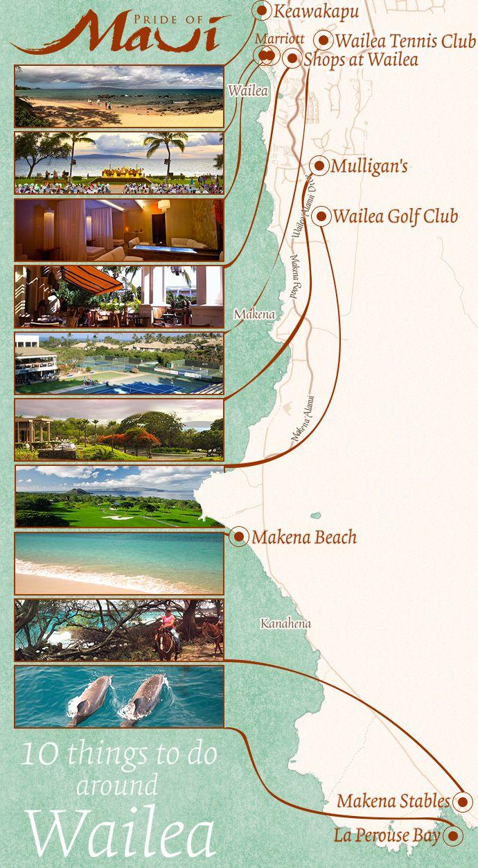Wailea Maui Map infographic
