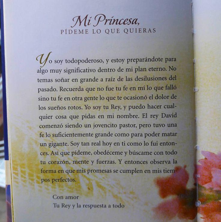Mi princesa pídeme lo que quieras.  Una carta de Dios para ti. Leela!