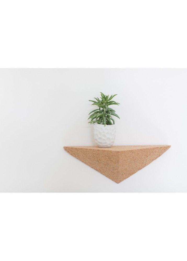 Etagère en liège triangulaire