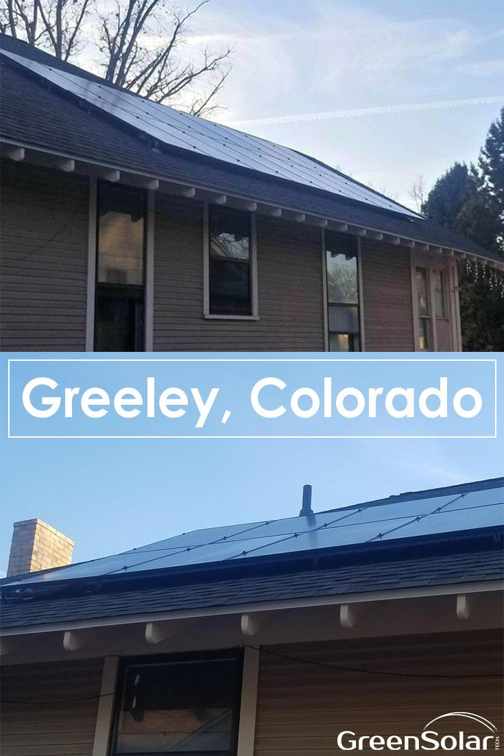 Greeley Co Homeowner Has Chosen Green Solar Technologies To Help Install Their Solar Power Generation System Thi Photovoltaic System Solar Technology Greeley