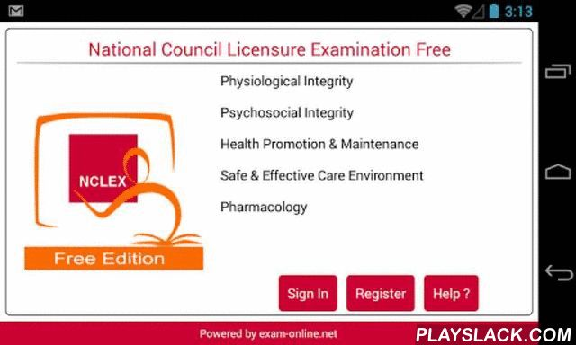NCLEX Exam Online Free  Android App - playslack.com , Under the guidance of its membership, the National Council of State Boards of Nursing, Inc. (NCSBN®) develops and administers two nurse licensure examinations; the National Council Licensure Examination for Registered Nurses (NCLEX-RN®) and the National Council Licensure Examination for Practical Nurses (NCLEX-PN®). These two examinations are used by the Boards of Nursing/Regulatory Bodies to test entry-level nursing competence of…
