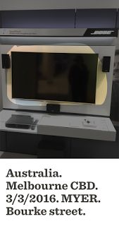 BOSE Television turned on   Before: Display TV is off  Another Check on 5/3/2016: TV is now on  .BOSE .MYER Melbourne Our-Implemented-Suggestions Retail Television