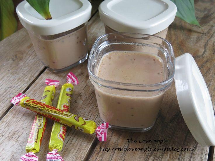 Crème carambar avec la yaourtière seb multi délices