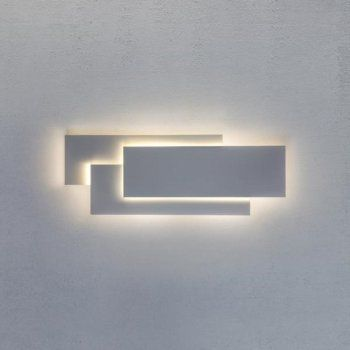 LED White Wall Panel Light in Contemporary Design, Very Low Energy
