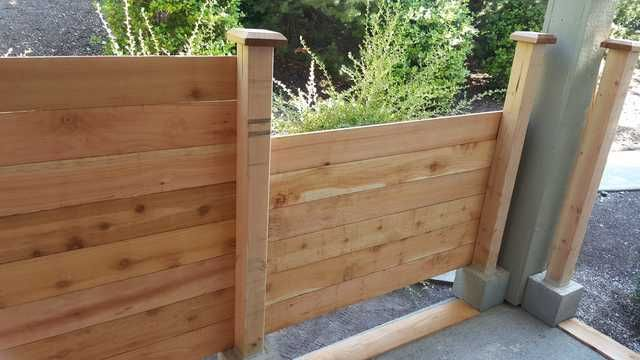 My First Real Project A Free Standing Fence For An Apartment Patio Patio Design Patio Flooring Patio Fence