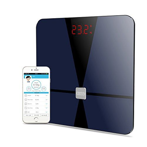Dr.meter Smart Wireless Body Fat Scale Digital Weight Bathroom Scale to Manage Body weight, Body Fat, Water, Muscle Mass, BMI, BMR, Bone Mass and Visceral Fat,CF376 - Description Always get confused on your weight loss? Actually, sometimes weight loss only reduces the capacity of body water instead of body fat. Now this Dr. Meter digital body fat scale uses Bio-electrical Impedance Analysis (BIA) Technology to monitor 8 important body compositions like the Wei...
