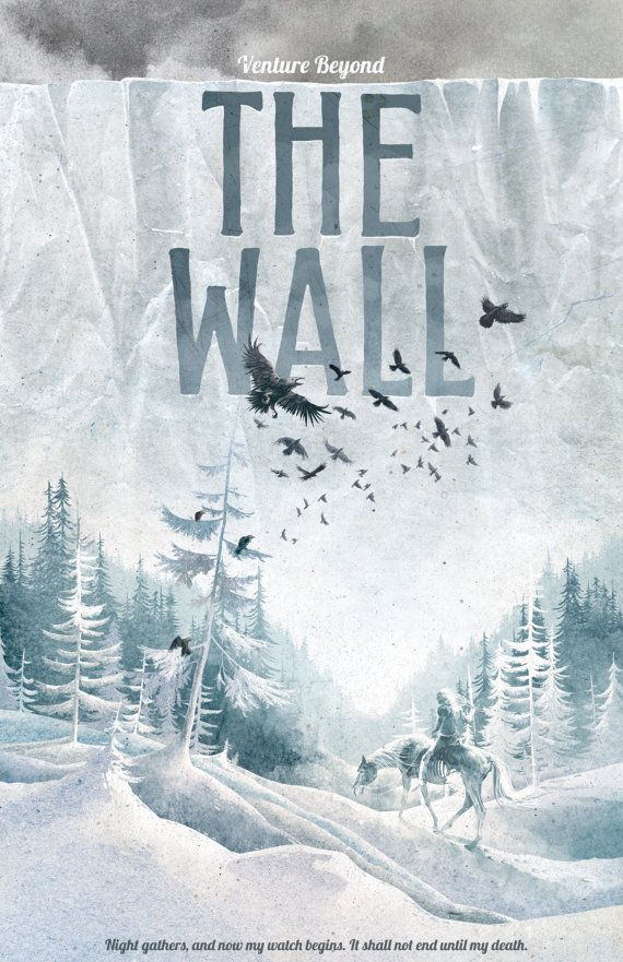 Game of Thrones, Game of Thrones Poster, The Wall Travel Poster, Game of Thrones Gift, Game of Thrones Art, The Wall Art, The Wall – Tanja Ehmig
