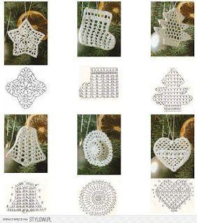 Hobby lavori femminili - ricamo - uncinetto - maglia: natale filet uncinetto con schema