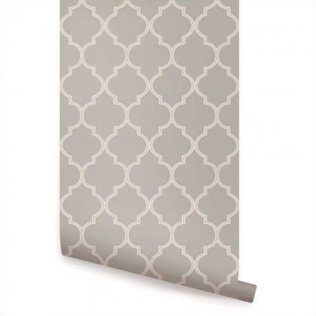 Warm Grey Moroccan Wallpaper