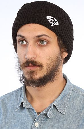 Diamond Supply Co. The Brilliant Fold Beanie in Black : Karmaloop.com - Global Concrete Culture