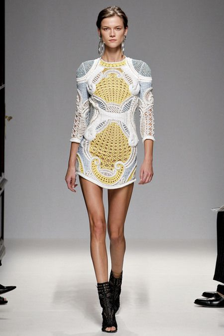 Balmain  s/s rtw '13  *keep in mind designer oliver rousteing is only 27yo. WOW*