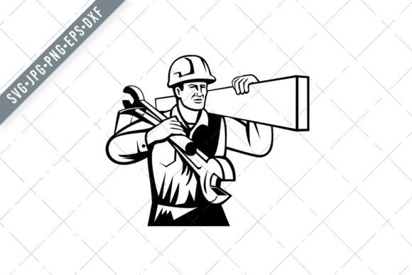 Handyman Or Builder Carrying Timber Graphic By Patrimonio Creative Fabrica