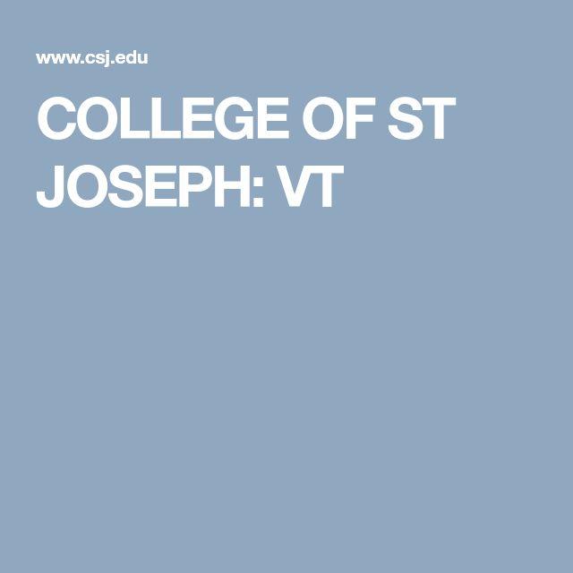 COLLEGE OF ST JOSEPH: VT