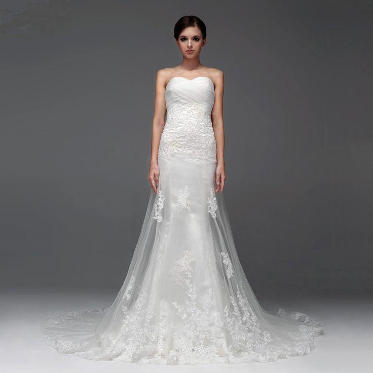 Elegant Sleeveless with Dropped waist wedding dress
