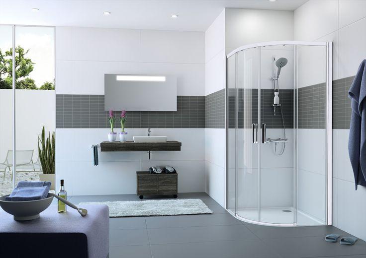 Bílé sprchové kouty
