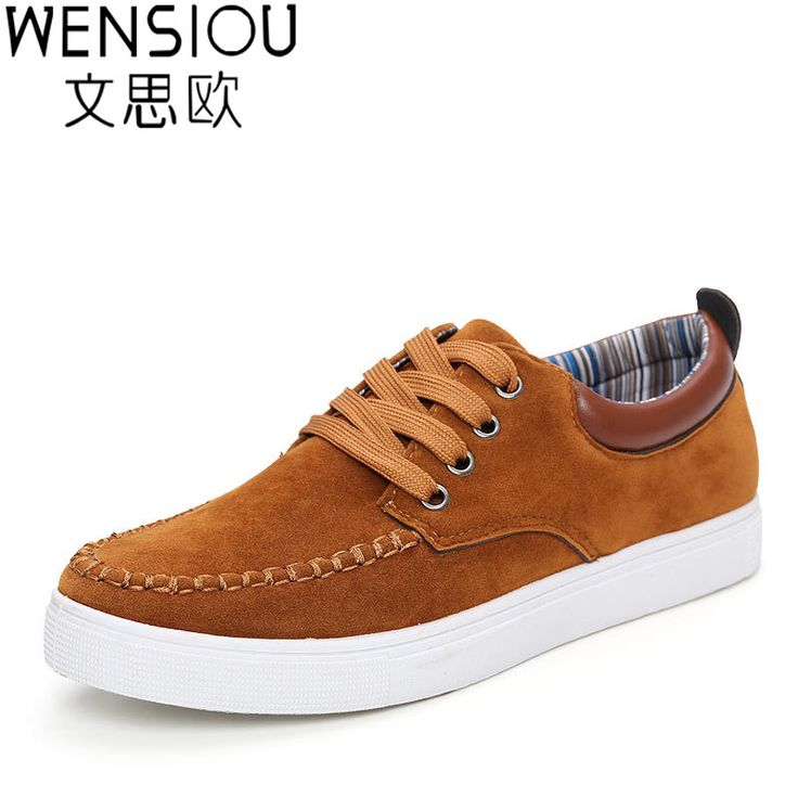 Men shoes 2016 new suede leather flat men fashion casual shoes solid male skid summer shoes for men zapatos mhombre ET02 #Affiliate