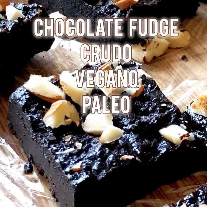 """CHOCOLATE FUDGE CRUDO VEGANO PALEO :::: #rawvegan #veganfoodvideos #veganvideos #vegandessert…"""""""
