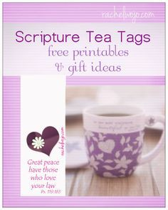 Scripture Tea Tags - great for ministry gifts, or to use at Mom's Night Out events, Mother's Day teas, and women's ministry events!!