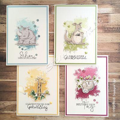 Geburtstagskarten mit den Wild & Artisan Texturen von heute (Briefmarkenlicht