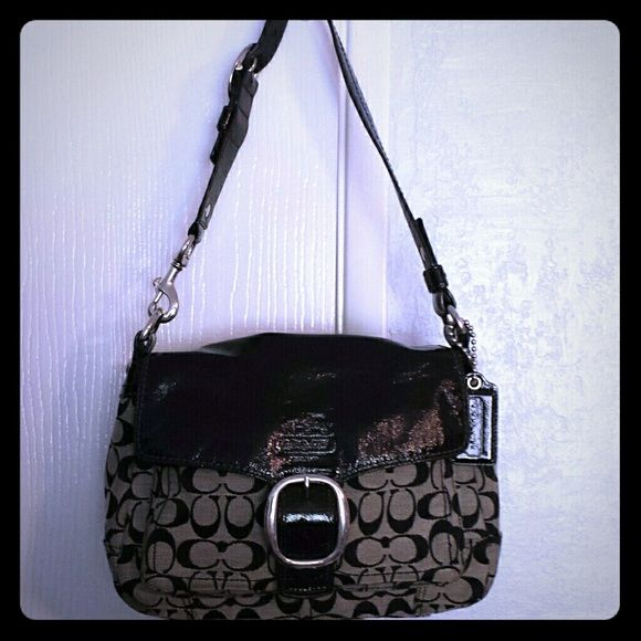 Coach satchel bag Lovely authentic Coach handbag with two convenient outer pockets! Like new! comes with original dust bag Coach Bags Satchels WoW! So beautiful bags 38.5$!