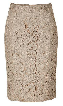 Pretty lace pencil skirt