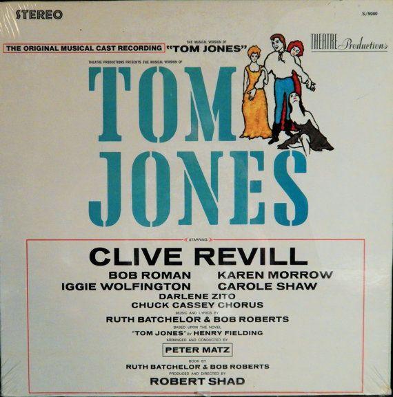 """Tom Jones 12"""" Vinyl Lp Mint Original Cast (1966 music Ruth Batchelor, Bob Roberts) Clive Revill, Karen Morrow, Bob Roman, Carole Shaw"""