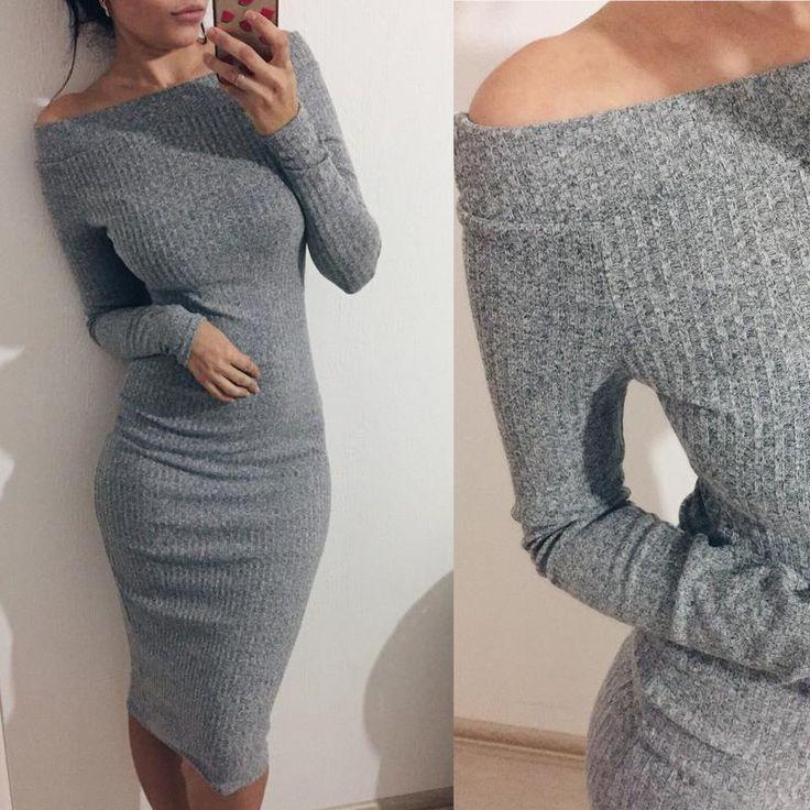 Идеальное трикотажное платье