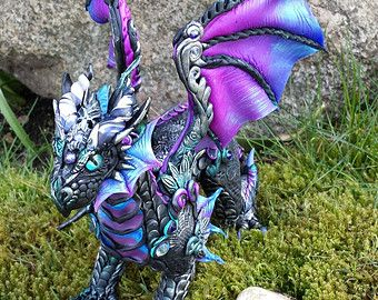 Cane Work Custom Dragon Sculpture by MakoslaCreations on Etsy