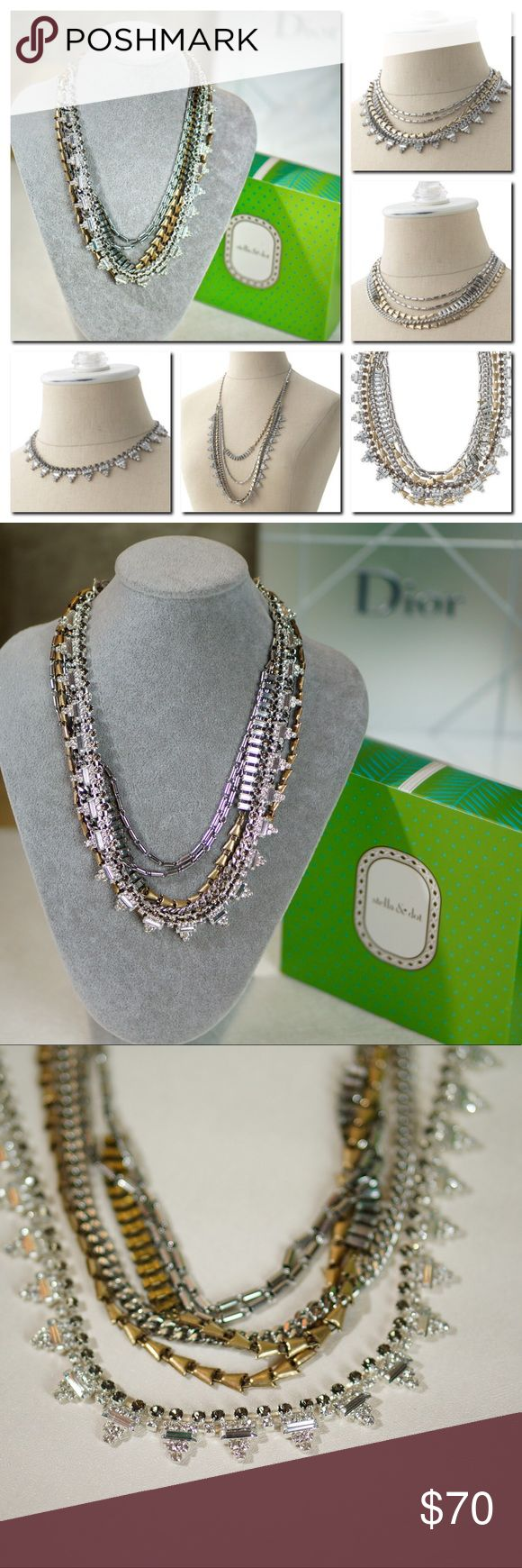 """Stella Dot Sutton Statement Necklace Mixed Metal Brand new. Can be worn it 5 ways!  Our most versatile fashion necklace yet! Five (count 'em) ways to wear our Sutton statement necklace: Long and loose for a laid-back look. Clasped into a statement when you're feeling bold. Plus or minus the sparkle strand. Or just the sparkle when you're in the mood to shine. * 17.75"""" when worn short, and 32"""" when worn long. * Mixed metal plating. Stella & Dot Jewelry Necklaces"""