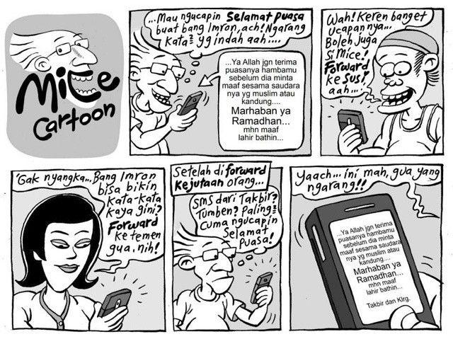 Mice Cartoon, Kompas Minggu: SMS #Ramadhan