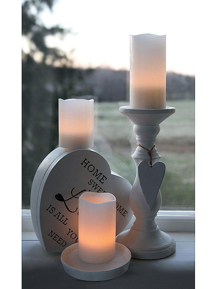 Led Kerze In Creme H 15 X O 7 5 Cm In 2020 Led Kerzen Kerzen