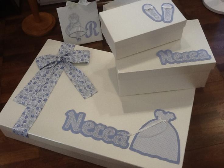 Cajas para guardar traje zapatos y recuerdos de comuni n - Cajas de plastico para almacenar ...